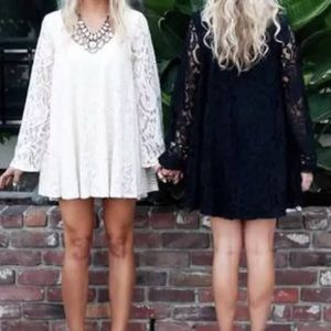 Show Me Your MuMu Dresses - Show Me Your Mumu Fannie Bell Sleeve Lace Dress M